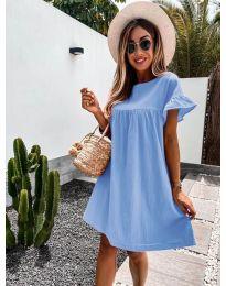 Свободна дамска рокля в светло синьо - код 744
