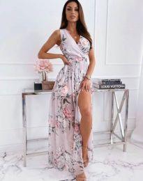 Дамска рокля с флорален десен - код 4801 - 2