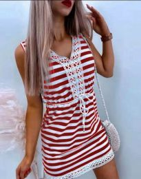 Атрактивна дамска рокля в червено - код 20100