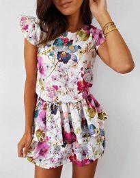 Атрактивна дамска рокля с флорален десен - код 7398 - 1