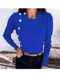 Дамска блуза в синьо - код 9989