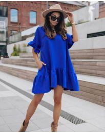 Свободна дамска рокля в синьо - код 748