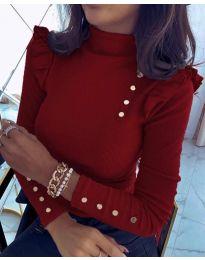 Дамска блуза в цвят бордо - код 11483