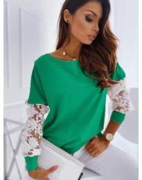 Елегантна дамска блуза в зелено - код 4426