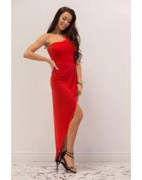 Асиметрична рокля в червено - код 541