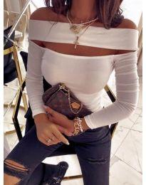 Елегантна блуза в бяло - код 5766