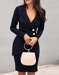 Елегантна рокля в черно - код 2431