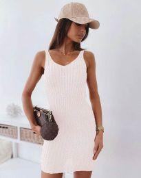 Дамска рокля в бяло - 10088