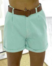 Къси дамски панталонки в цвят мента - код 2236