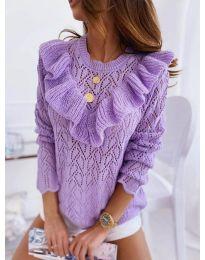 Елегантна дамска блуза в лилаво - код 790