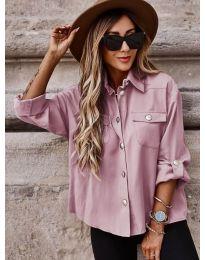 Дамска риза в цвят пудра - код 5293