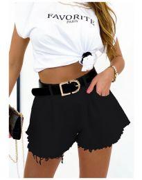 Атрактивни къси панталони в черно - код 4563
