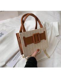 Дамска чанта в капучино - код B504 - 2