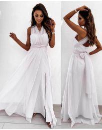 Дълга рокля в бяло - код 2011