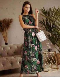 Дълга рокля с атрактивен десен - код 2964 - 7