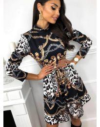 Дамска рокля с ефектен десен - код 7272 - 2