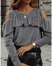 Дамска блуза в сиво - код 4111