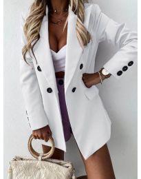 Елегантно дамско сако в бяло - код 815