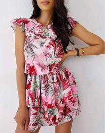 Атрактивна дамска рокля с флорален десен - код 7398 - 3