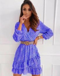 Дамска рокля в синьо - код 2794