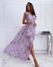 Дамска рокля с флорален десен - код 4801 - 1