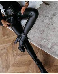 Дамски клин в черно - код 4888