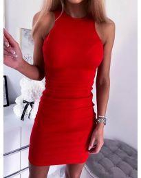 Изчистена рокля по тялото в червено - код 2623