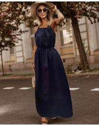 Изчистена рокля в тъмно синьо  - код 3323