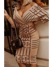 Дамска рокля с ефектен десен - код 4441 -3