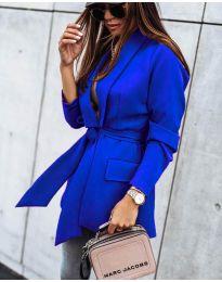 Елегантно дамско сако в синьо - код 1980