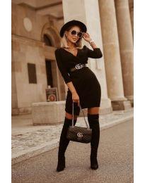 Изчистена рокля в черно - код 9977