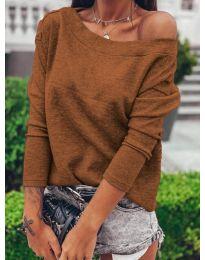 Дамска блуза в кафяво  - код 4417