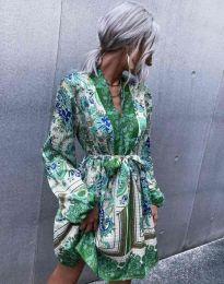 Дамска рокля с атрактивен десен - код 4753 - 5