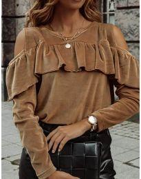 Дамска блуза в кафяво - код 4111