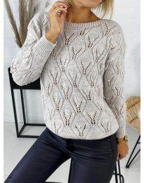 Дамска пуловер в сиво - код 392