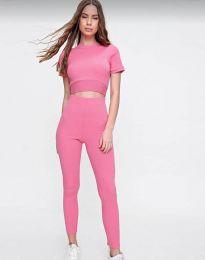 Дамски спортен комплект в розово - код 2507