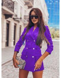 Дамско елегантно сако в лилаво - код 834