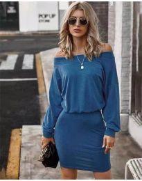 Дамска рокля в синьо - код 4447
