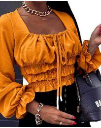 Дамска блуза в цвят горчица - код 1819