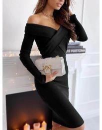 Елегантна рокля в черно - код 6130