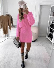 Елегантна дамска рокля в розово - код 0235