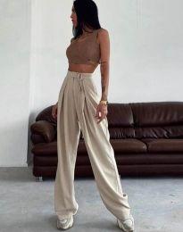Елегантен дамски панталон в бежово - код 1428