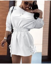 Изчистена рокля в бяло - код 7470