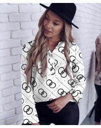 Бяла дамска риза - код 332