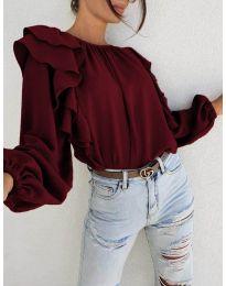 Елегантна блуза в  бордо - код 0509