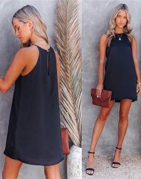 Свободна дамска рокля в черно - код 2169