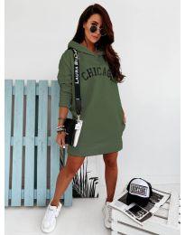 Спортна рокля в маслено зелено - код 802