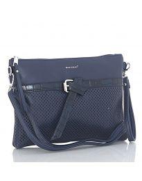Дамска чанта в тъмно синьо - код LS 589