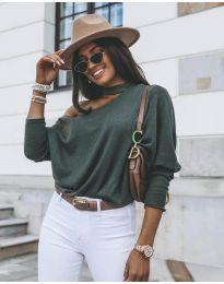 Дамска блуза в зелено - код 5618