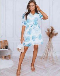 Дамска рокля с флорален десен - код 4082 - 1